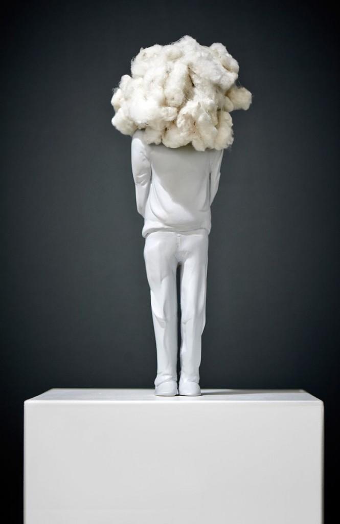 BEWÖLKT, modeling clay, polyester, cotton, 2013