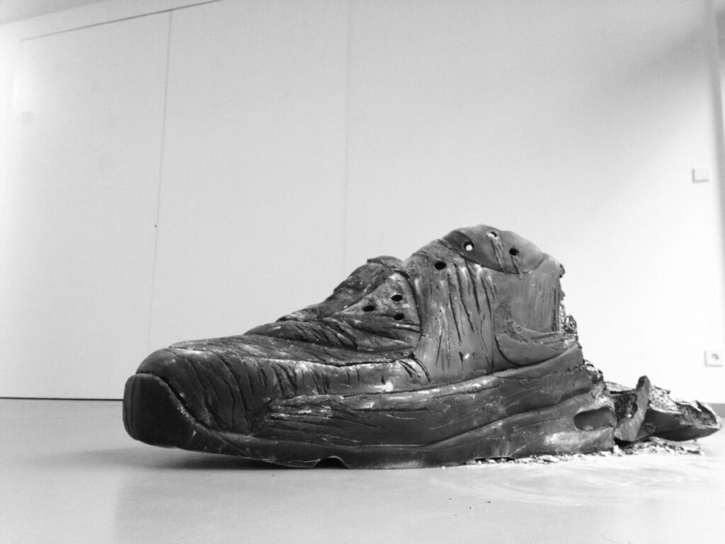 Air Max Burn - mixed media, 2013